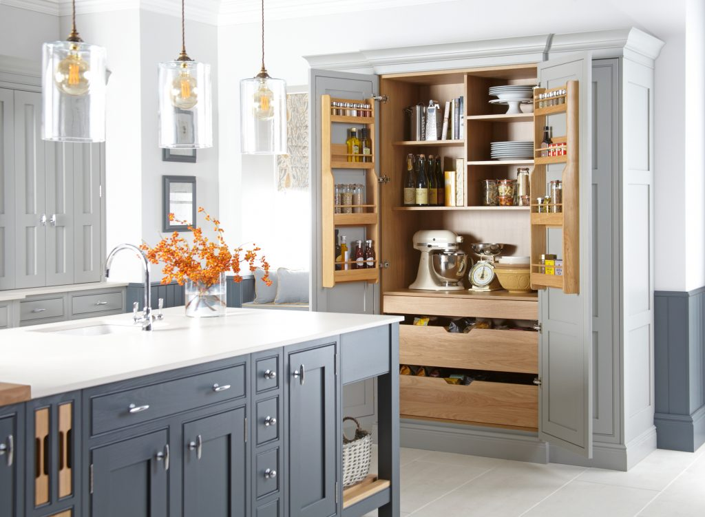 Langton larder unit natural oak - Doug Farleigh Kitchens