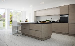 Isala Dark Elm and Cashmere - Doug Farleigh Kitchens
