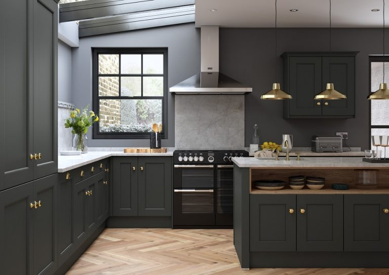 Dark Painted Kitchen - Doug Farleigh Kitchens