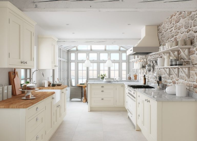 Cream In-frame Kitchen - Doug Farleigh Kitchens