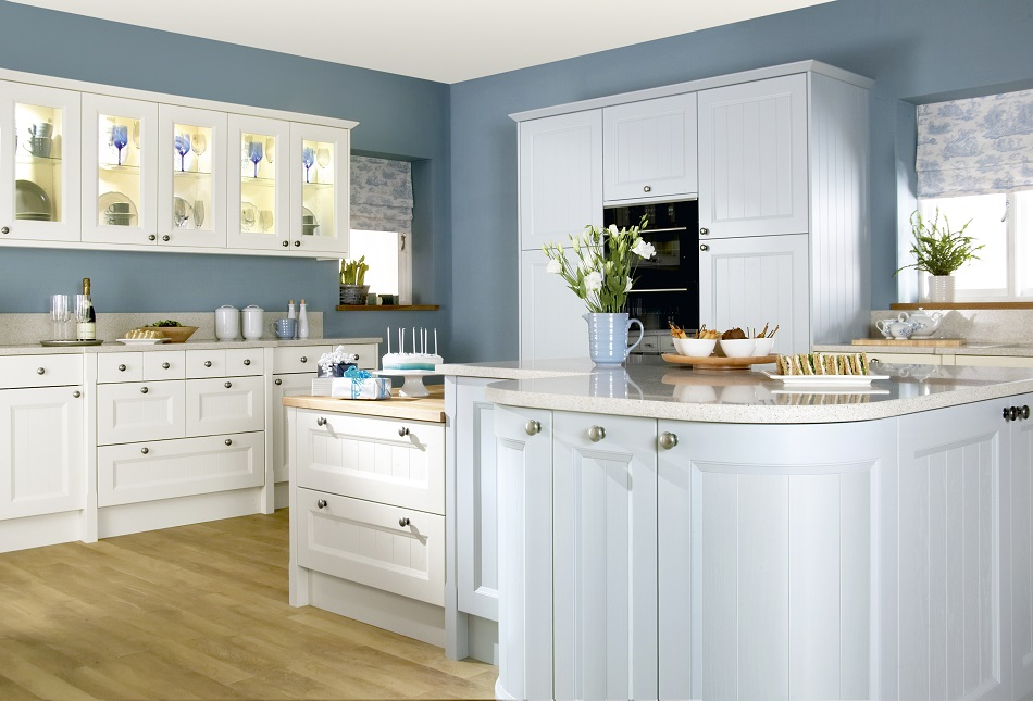 Cornflower Blue Painted Kitchen - Doug Farleigh Kitchens