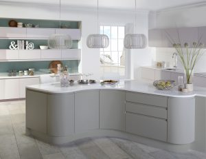 Modern Curved Kitchen - Doug Farleigh Kitchens