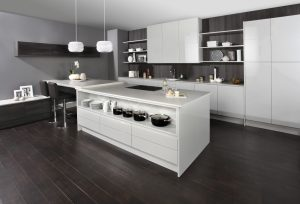 Modern Stained Oak Kitchen - Doug Farleigh Kitchens