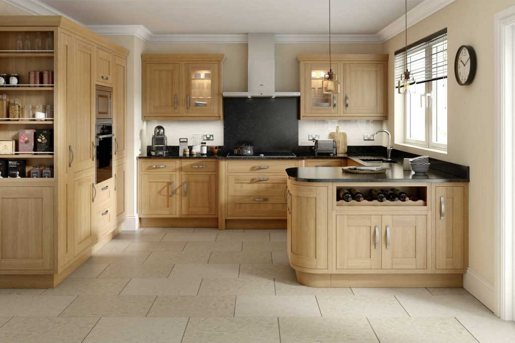 Contemporary Oak In-frame Kitchen - Doug Farleigh Kitchens