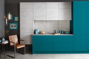 Modern Blue Kitchen - Doug Farleigh Kitchens
