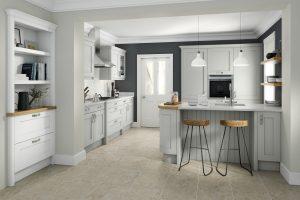 Mornington Shaker Kitchen, Partridge Grey - Doug Farleigh Kitchens