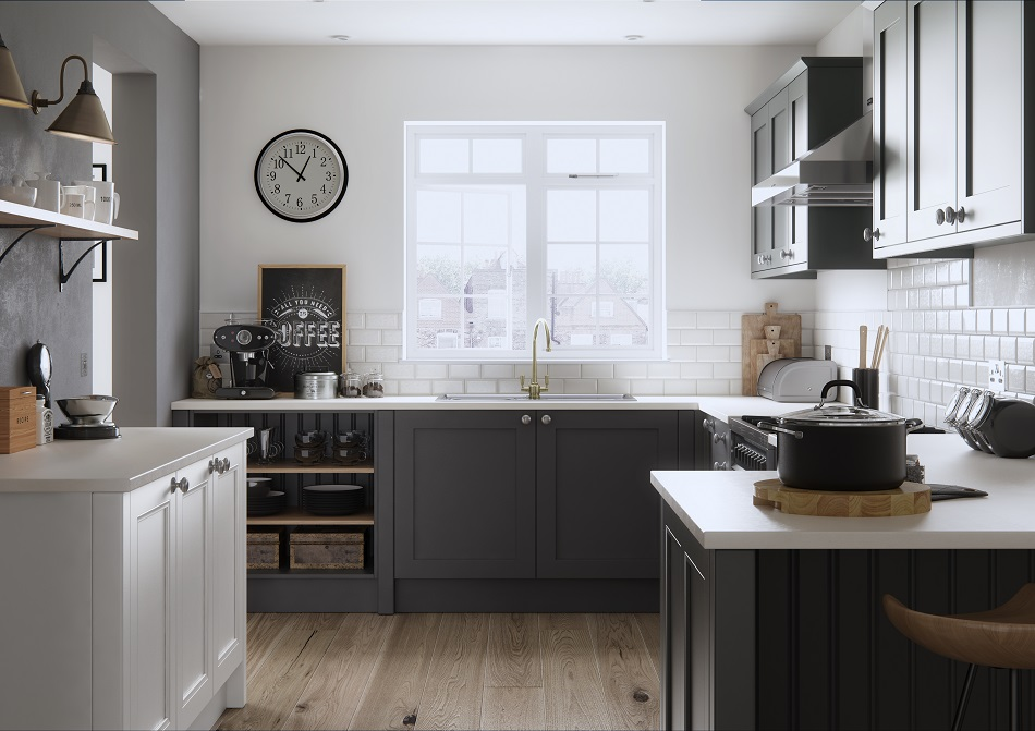 Dark Painted Shaker Kitchen - Doug Farleigh Kitchens