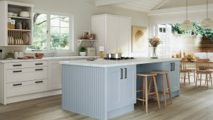 Light Blue Painted Shaker Kitchen - Doug Farleigh Kitchens