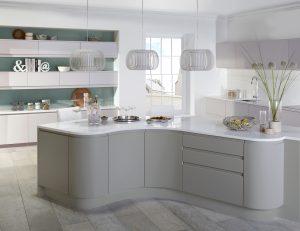 Modern Curved Kitchen - Doug Farleigh Kitchens