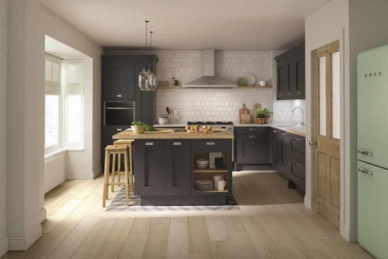 Contemporary Shaker Kitchen - Charcoal - Doug Farleigh Kitchens